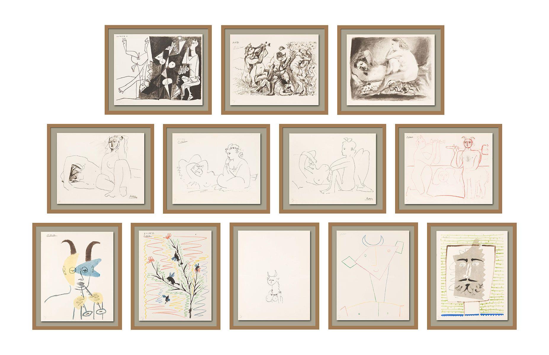 12-Picasso---Femmes-et-Faunes_full-set-framed
